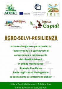 """Sabato 30 novembre, alla Fattoria Cupidi, si parlerà di """"Agro-Selvi-Resilienza"""""""